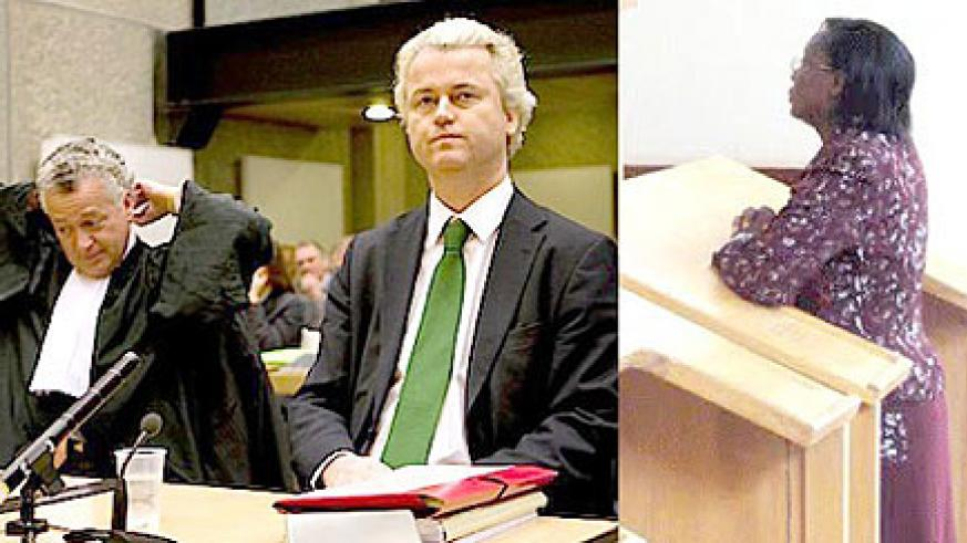 Where is the international outrage? Geert Wilders and Victoire Ingabire in court. (Net photo)