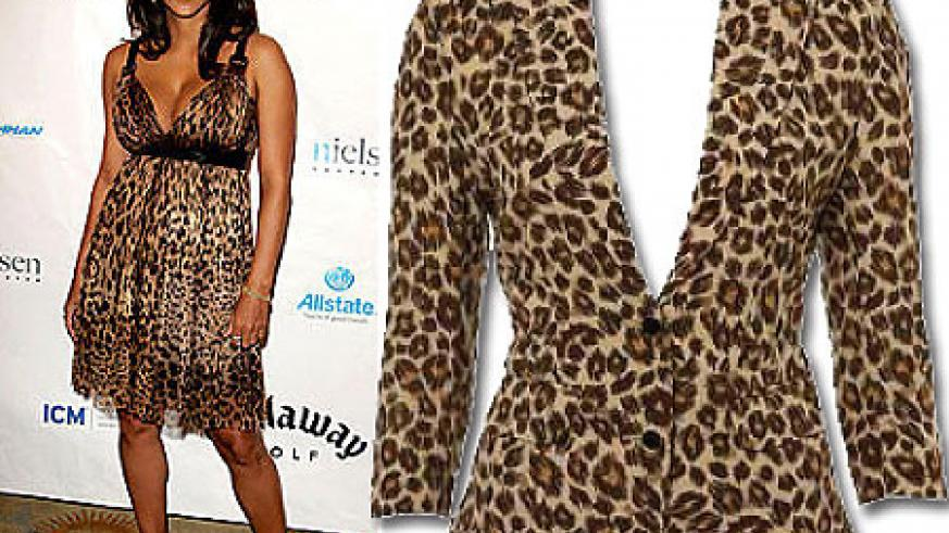L-R : Halle Berry in animal print ; Leopard print blazer