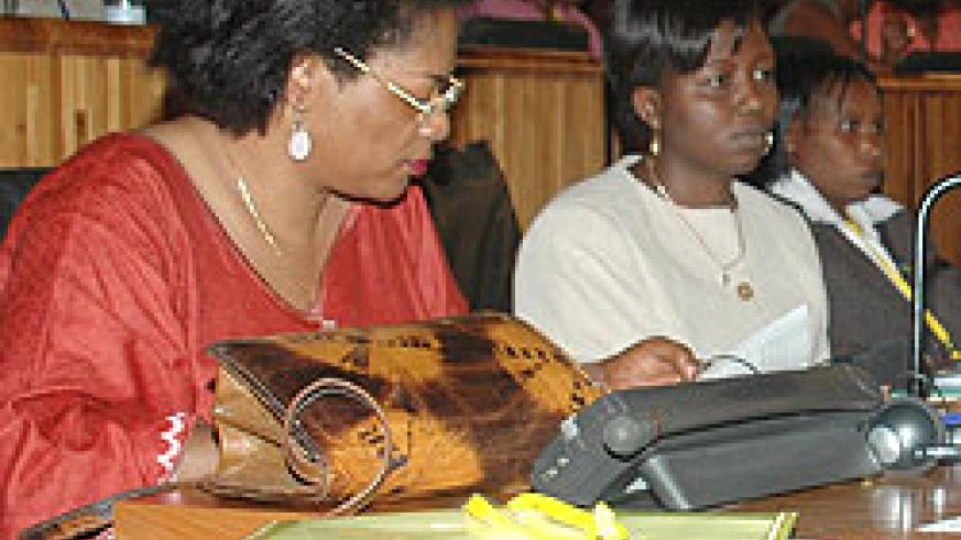 A group of women MPs in a parliamentary session. The country has been commended for women empowerment (File Photo)
