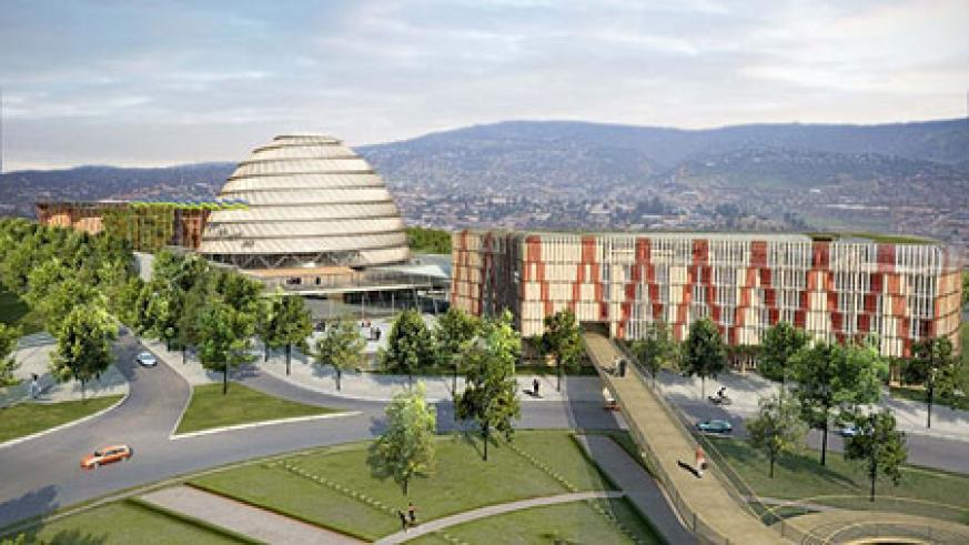 The Kigali Convention Centre. Rwanda is aiming at the conference tourism market
