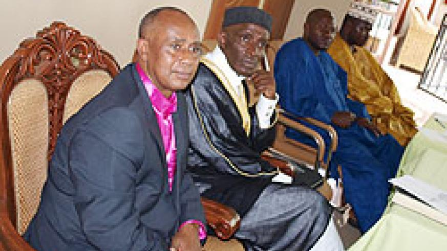 L-R, Rev. Simon Masasu, Mufti Swalleh Harerimana during the opening of the meeting yesterday (Photo; R. Mugabe)