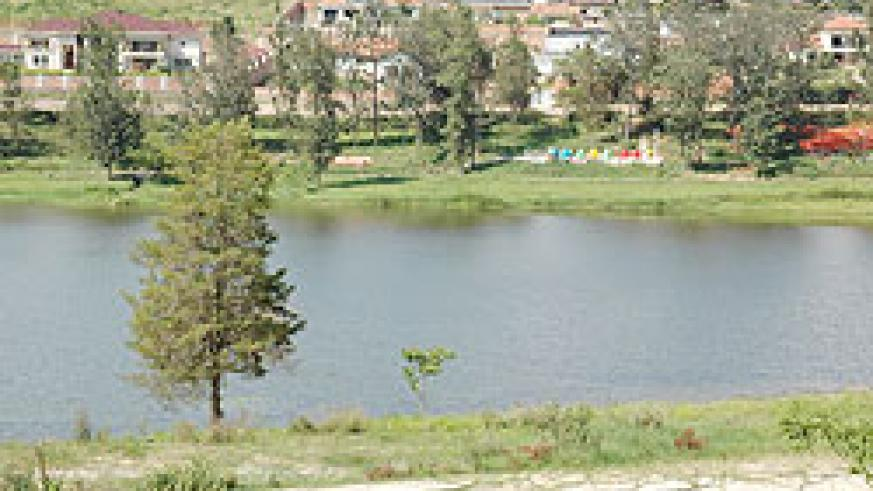The man-made lake in Nyarutarama  that is meant to be part of the Kigali City Park. (File Photo)