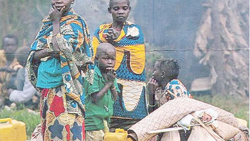 Refugees in a camp in DR Congo (Net Photo)