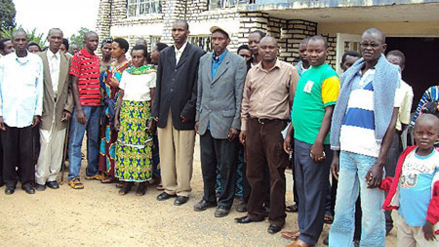 Some of the local leaders pose for a group photo. They recommitted to kick malaria out of Rwanda. (Photo: D. Sabiiti)