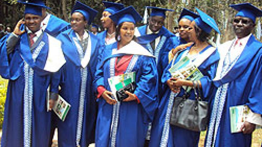 Some of the graduands who were awarded Masters Degrees yesterday. Photo P Ntambara
