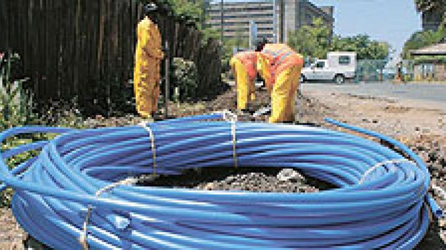 Fibre optic cables are being laid across the country