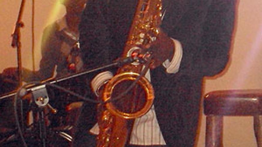 A saxophonist doing his thing