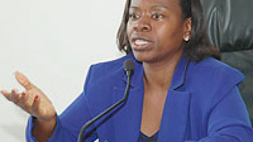 Minister of Trade and Industry Monique Nsanzabaganwa (File photo)