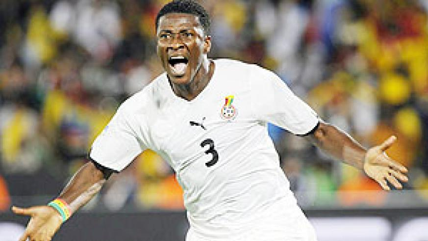 Asamoah Gyan is Tetteh's choice for Fifa World player of the year. (Net photo)