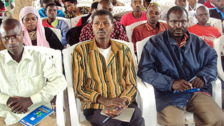 A cross section of farmers during the training (Photo; S. Rwembeho)