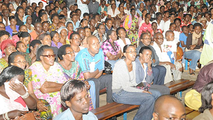 Kizito's concert was well attended.