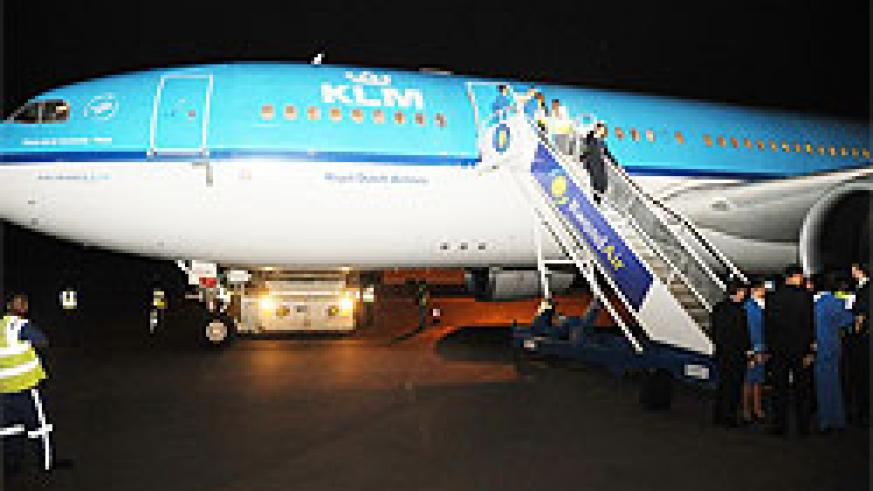 KLM's aircraft at Kanombe International Airport (photo by T.Kisambira)