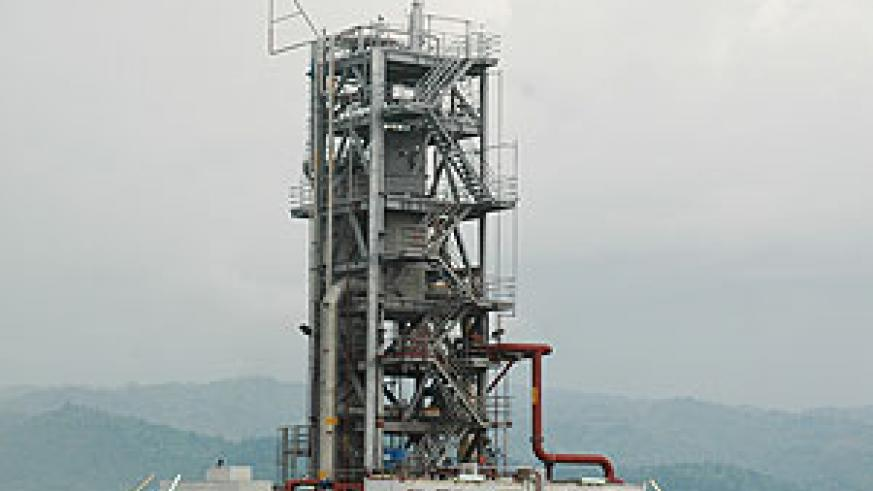 The rig of the Methane Gas Plant on Lake Kivu during the pilot phase (File Photo)