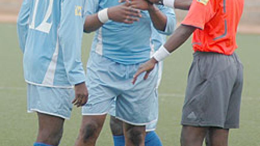 Rayon players look dejected in a recent Primus league game. The team was held to a 3-all draw by Etincelles. (File Photo)