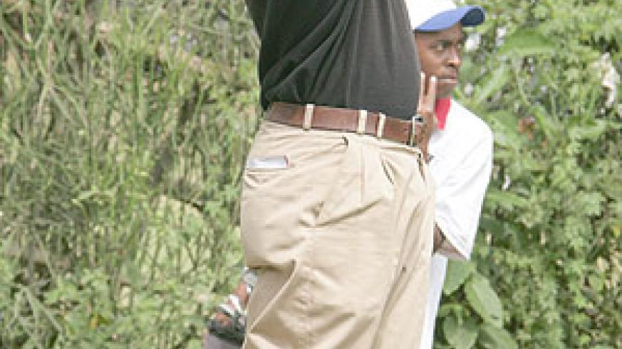 LOW FINISH: Hakizimana lost the initiative after carding six bogeys yesterday. (File Photo)
