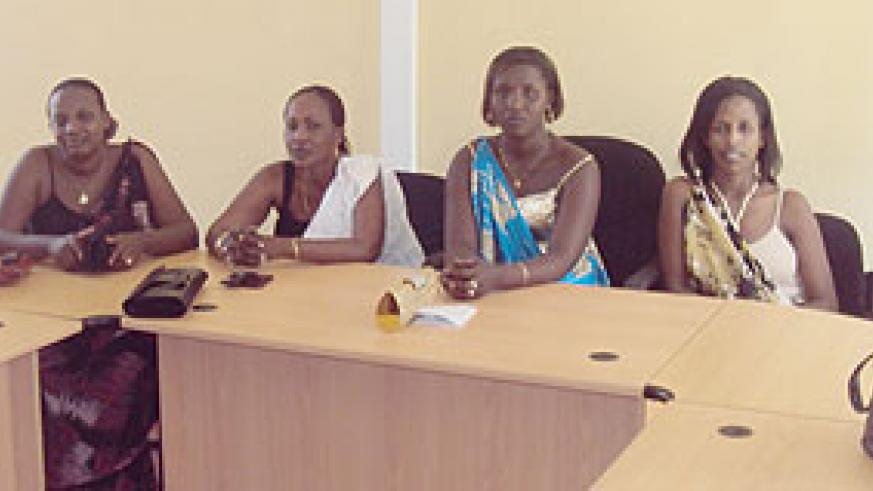 Some of the candidates vying for the position of Woman MP in the Western Province (Photo / S. Nkurunziza)