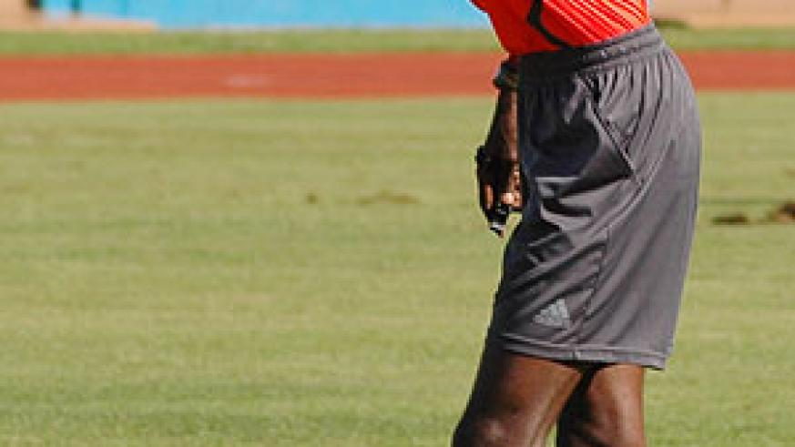 Issa Kagabo is one of two Rwandan referees who will officiate at this year's Cecafa Senior Challenge Cup. (File Photo)