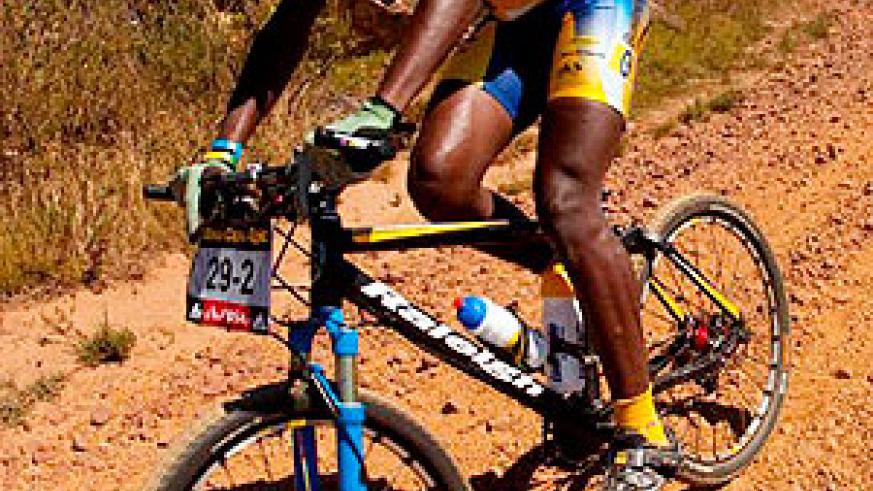 Adrien Niyonshuti in action for his South African club MTN Energade