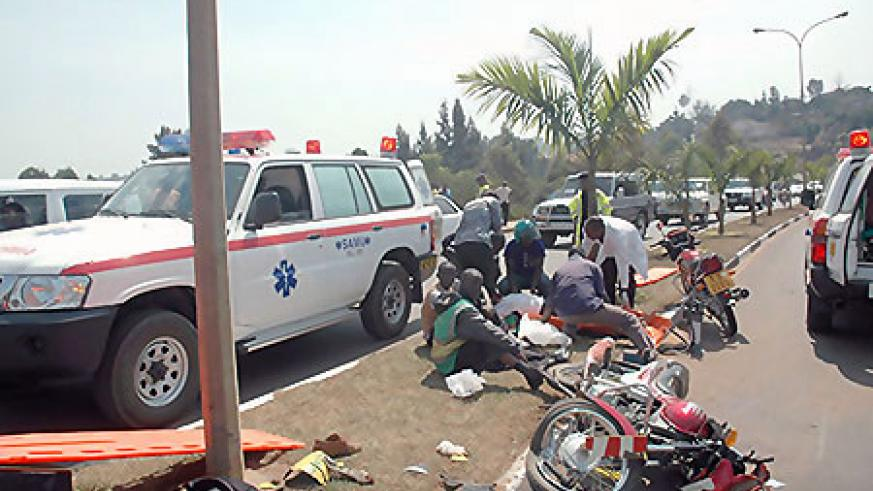 A past accident scene in Kigali City (File photo)