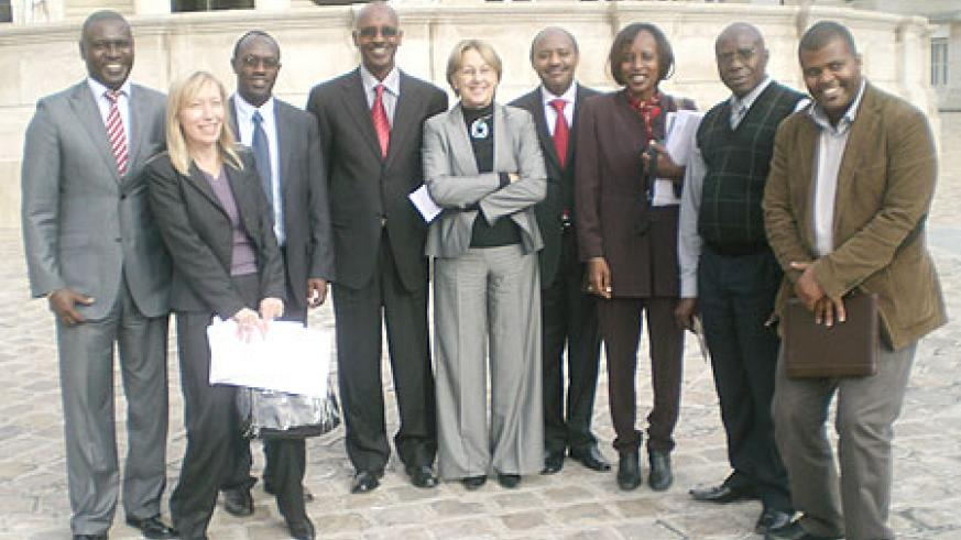 Some members of the Rwandan delegation in France