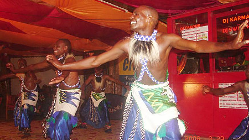 Cultural male dancers belted out their energetic dance moves and thrilled the audience.