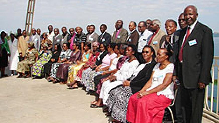 Some of the church leaders who attended the annual retreat (Photo; S. Nkurunziza)