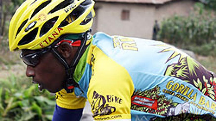 IN CONTENTION; Niyonshuti starts today's stage 4 in the lead. (net. Photo)