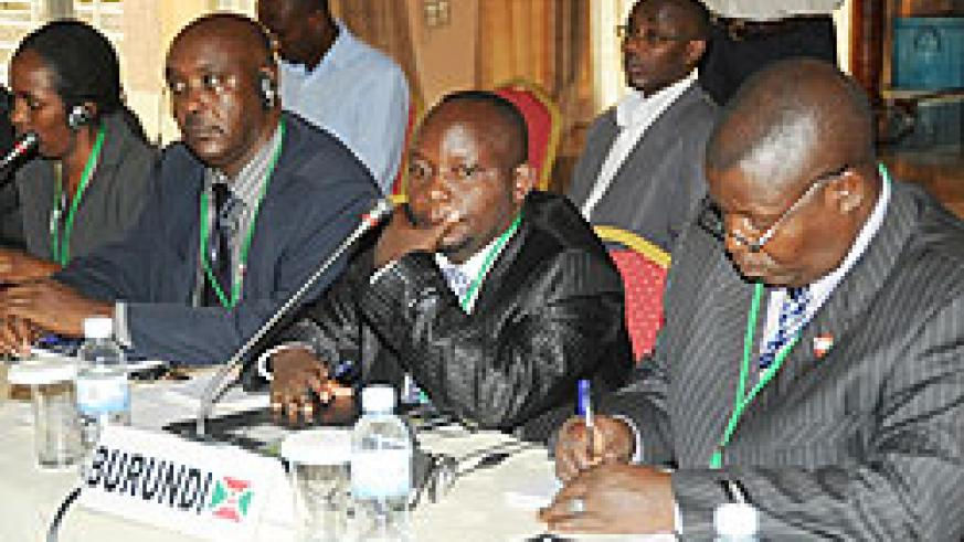 Participants from Burundi during the Amani forum meeting yesterday (Photo; J. Mbanda)