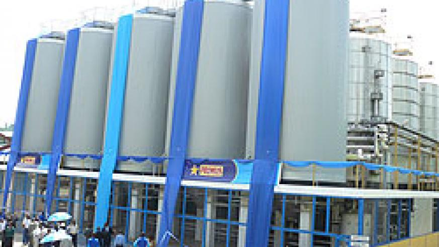 Bralirwa's beer plant in Gisenyi (file photo)