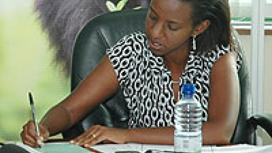 RDB's head of Tourism and Conservation, Rica Rwigamba (File photo)