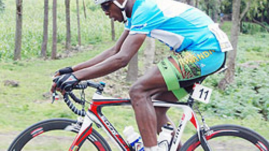 Niyonshuti reflects on a disppointing ride at the end of yesterday's stage. (Photo: E. Niyonshuti)