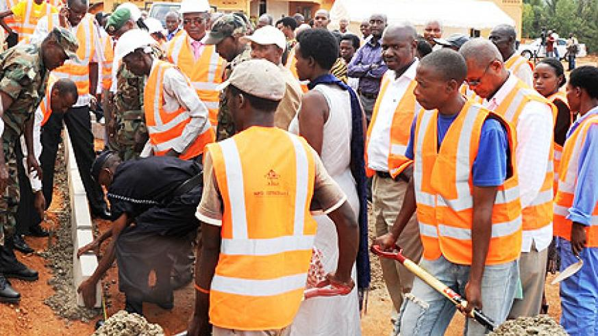 CITY BEAUTIFICATION CONTINUES; Church leaders and local officials during the exercise at Zion Temple (Photo; J. Mbanda)