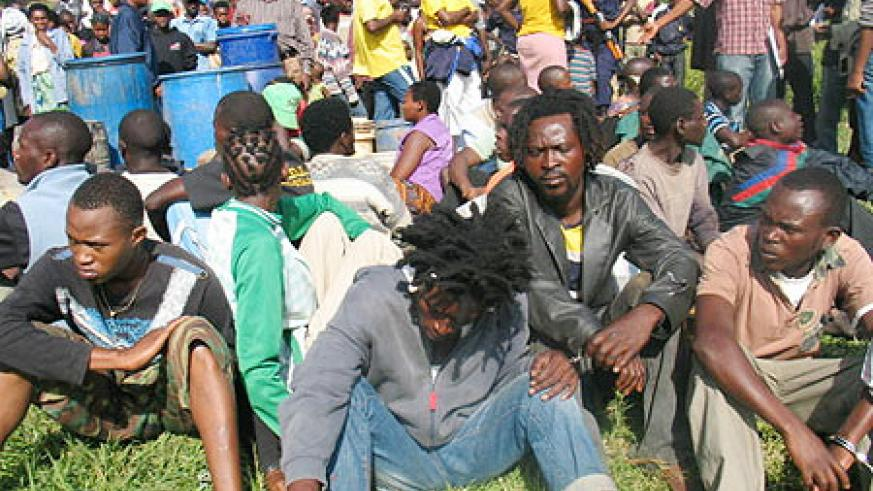 Some of the youths arrested in security operation (Courtesy photo)