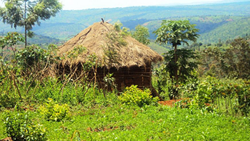 A grass thached house in rural Kirehe district is one of the thousands that are to be eradicated.