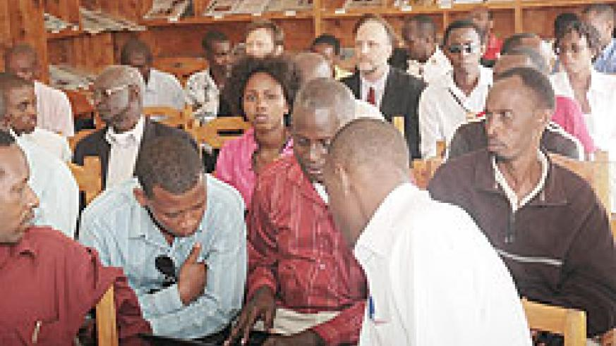 Local Journalists attending a meeting. The scribes body will soon become a Union (File Photo)