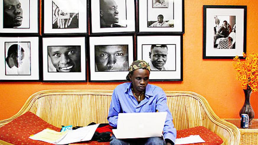 Achuil Deng at the AZ Lost Boys Center, where records of the refugees' early lives are kept. (Photo: NYTimes)