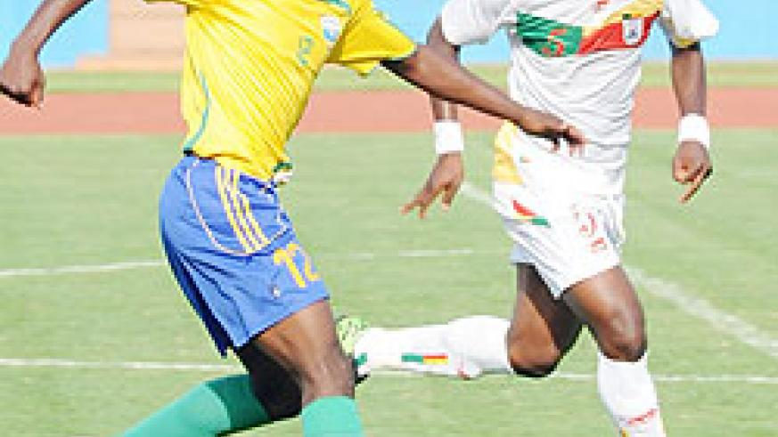 Kipson Atuheire's 77 minute strike was ruled out for off-side. (Photo T. Kisambira)