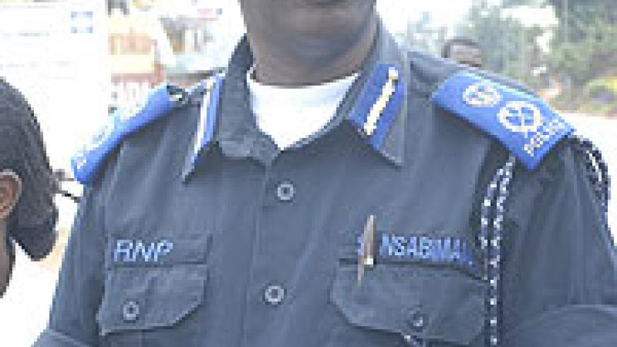 Stanley Nsabimana, DCG of Police announced the imminent sacking of police officers (Courtesy Photo)