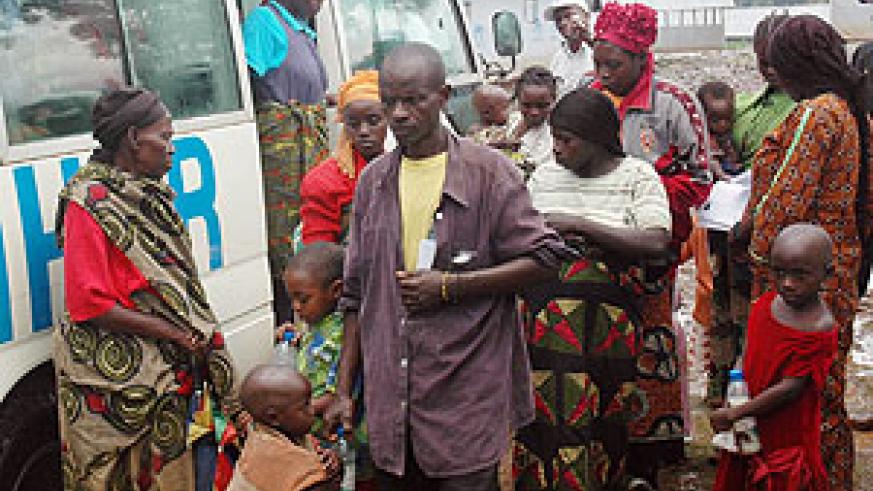 Some of the returnees from DRC at the Kiziba Camp before reintergration. No Rwandan will be accorded status by next year (File Photo)