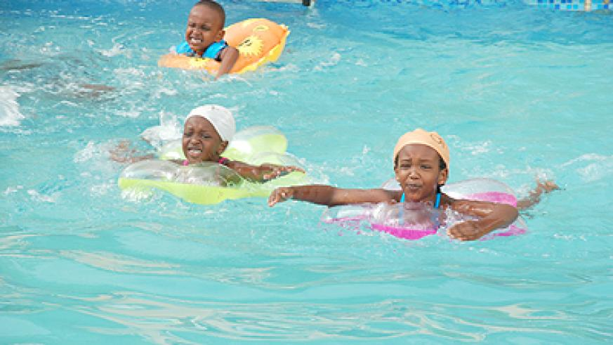 Kid showcased their swimming talent in the competition.