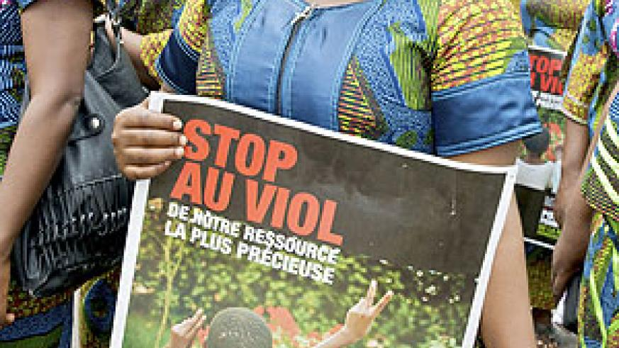 Women marching against sexual violence in the DRC. (Net photo)
