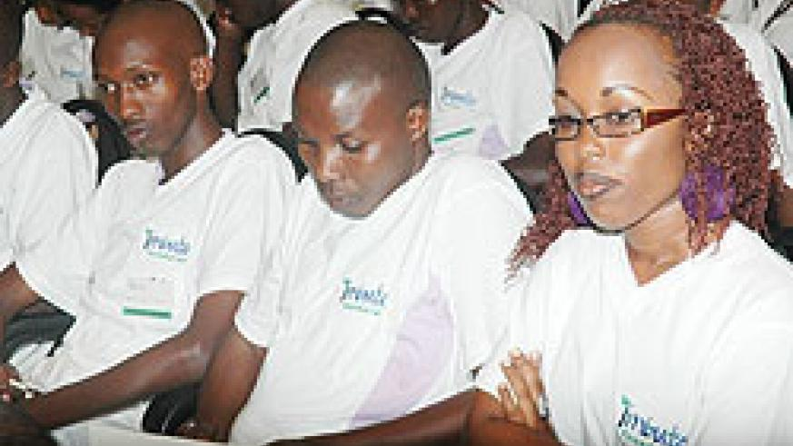 Youth at one of Imbuto Foundation Forums(File Photo)
