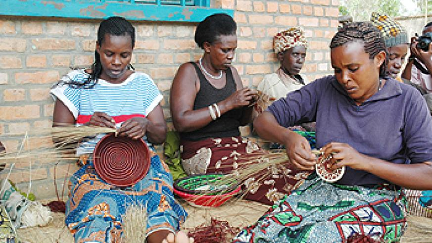 Basket weaving has boosted the income of women. (File Photo)