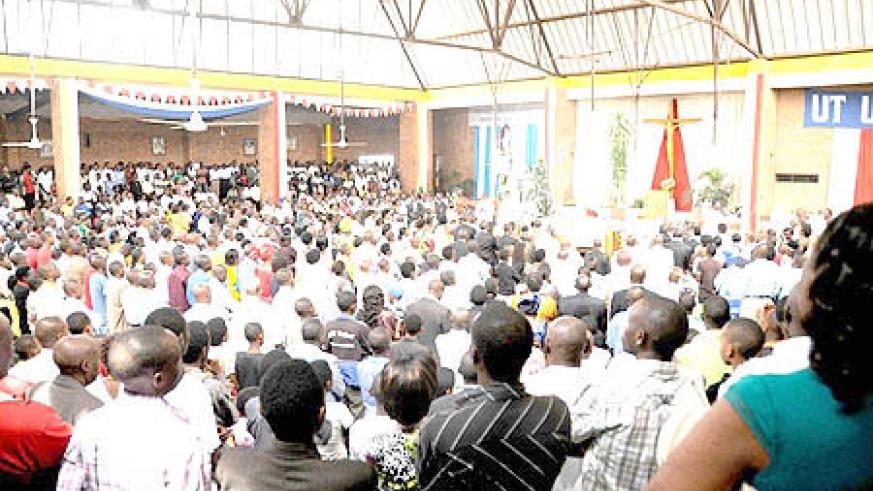 St Michele Church was filled to capacity during Christmas Day prayers