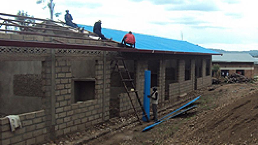 Classrooms construction have reached roofing level at different construction sites in Nyagatare district.Photo.Dan Ngabonziza.JP