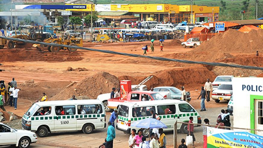 Renovation works on Nyabugogo terminal. Traders have complained the delay  is paralysing business (Photo T Kisambira)