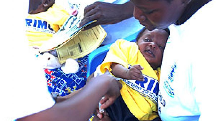 A child being immunised in a past exercise. Rubavu officials have said that it was a success in their district   (File Photo)