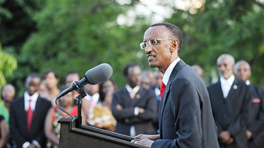 President Kagame has called for renewed efforts and determination in the New Year (Photo: Village Urugwiro)