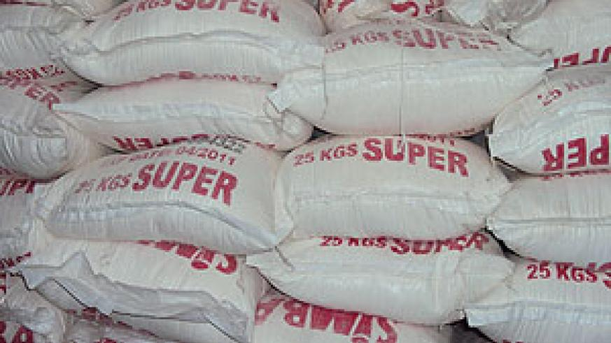 Some of the impounded bags of wheat flour that smuggled (photo. by Alex Ngarambe)
