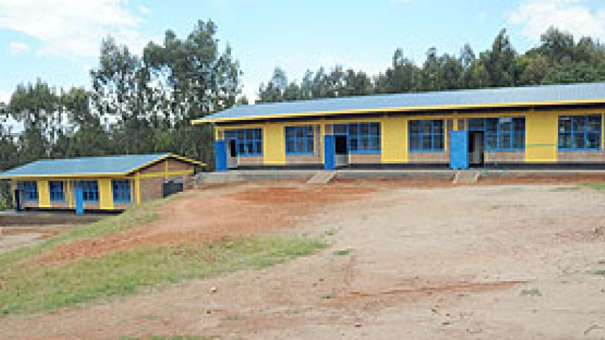A model of the 9-YBE classroom block. The ministry has said completion of blocks countrywide is at 80%.